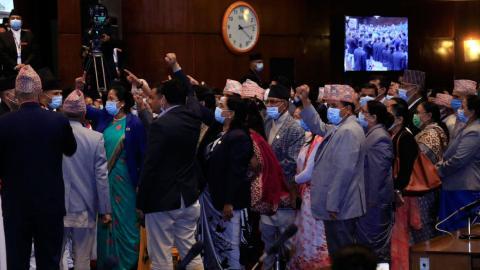 एमाले सांसदको नाराबाजीपछि संसद बैठक १५ मिनेटका लागि स्थगित